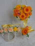 他の写真3: 花冠 1連・アジサイ、パール、リボン
