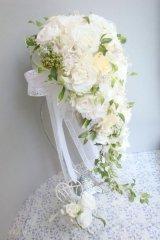 ロングキャスケードリュクス &スワロ横幅(花のみ)22cm長さ約60