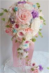 キャスケードブーケ スワロ オールドローズ(花のみ)22cm