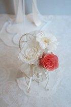他の写真1: ラウンドブーケ スワロ 色はドレスに合わせて。 20cm(花のみ) 全体では24cm  リニューアルキャンペーン価格