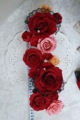 ドレスにあわせてデザイン 大きめへッドドレスセット 薔薇&アクセサリー
