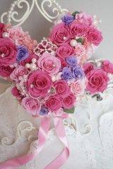 ミッキーバックブーケIV アクセント薔薇を入れて 色違い可 大きさ横幅約27cm