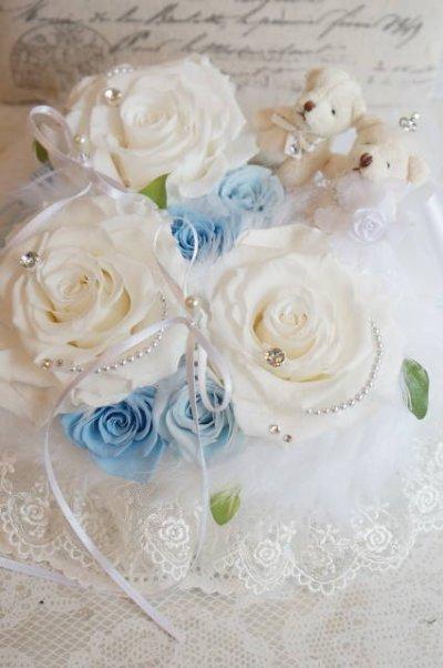画像2: ホワイト&ブルー WDベア