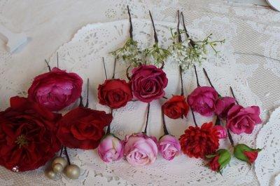 画像3: ヘッドドレス セット 大き目薔薇の入ったボリュームタイプ 色違い可 アーティフィシャルフラワー