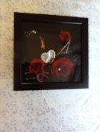 他の写真1: ヘッドドレスやリスト・アームブーケで時計アレンジ22.5cm角ホワイト