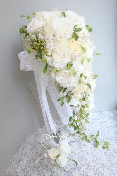 画像1: ロングキャスケードリュクス &スワロ横幅(花のみ)22cm長さ約60