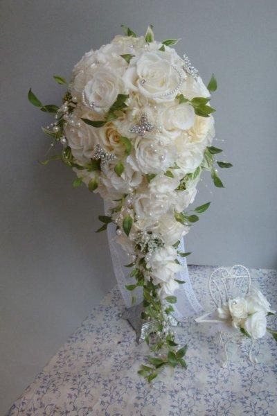 画像3: ロングキャスケードリュクス &スワロ横幅(花のみ)22cm長さ約60
