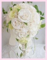 キャスケードブーケ スワロ バイカラー 幅(花のみ)22cm