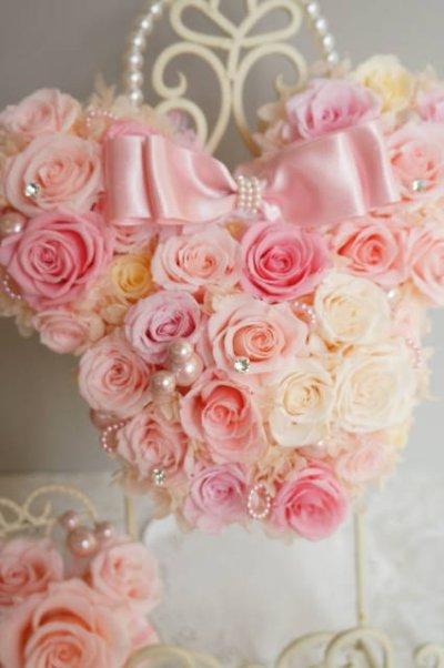 画像2: ミニーバックブーケ 花部分横幅 27cm 淡いピンク 色違い可
