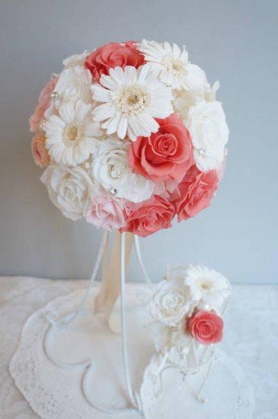 画像3: ラウンドブーケ スワロ 色はドレスに合わせて。 20cm(花のみ) リニューアルキャンペーン価格