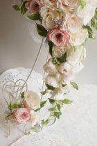 他の写真1: ロングキャスケードリュクス オールドローズ &スワロ横幅(花のみ)22cm長さ約60