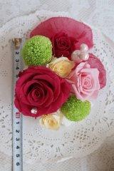 ドレスにあわせてデザイン和風へッドドレスセット 薔薇&アクセサリー