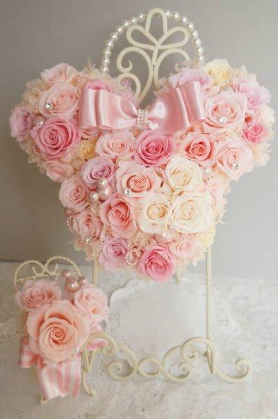 画像3: ミニーバックブーケ 花部分横幅 27cm 淡いピンク 色違い可