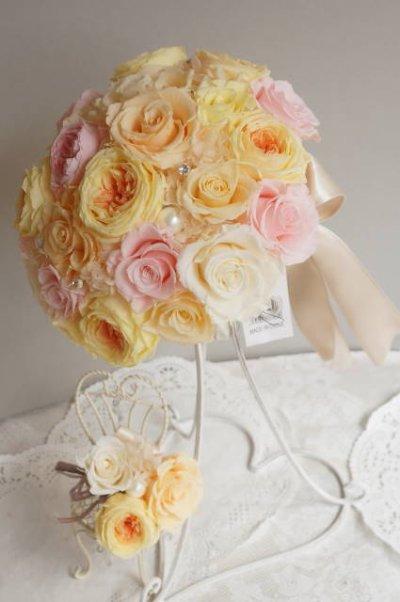 画像4: ラウンドブーケ オールドローズII スワロ 幅(花のみ)22cm