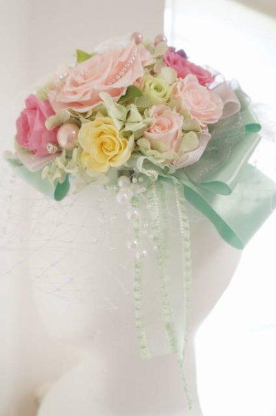 画像5: ボンネ ヘッドチュール&スワロII プリザーブドヘッドドレスドレス