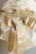 他の写真1: ラウンドブーケ スワロ クリスタルティアラ オフホワイト幅(花のみ)22cm