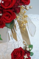 他の写真1: キャスケードブーケ スワロバタフライ 幅(花のみ)22cm