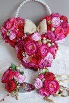 他の写真1: ヘッドドレス セット 大き目薔薇の入ったボリュームタイプ 色違い可 アーティフィシャルフラワー