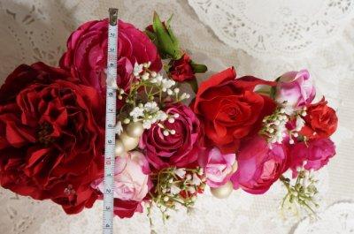 画像4: ヘッドドレス セット 大き目薔薇の入ったボリュームタイプ 色違い可 アーティフィシャルフラワー