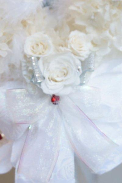 画像4: ステッキブーケミニー ホワイト薔薇とユーチャリス