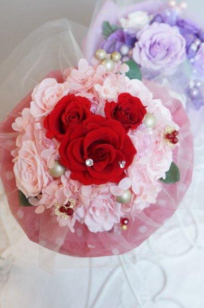 画像1: 17cm(花のみ)周りはチュール ミッキー赤 色違い可