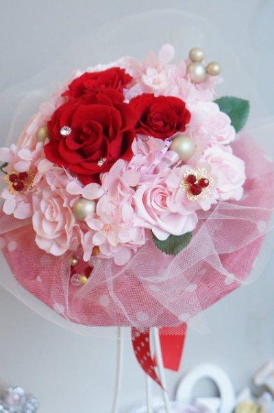 画像2: 17cm(花のみ)周りはチュール ミッキー赤 色違い可