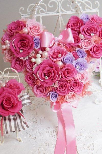 画像5: ミッキーバックブーケIV アクセント薔薇を入れて 色違い可 大きさ横幅約27cm
