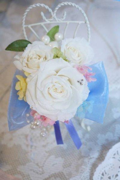 画像4: ミキミニブーケ ラウンド お色直しのできるエンチャンテッドなブーケ スワロ 花のみ21-22cm