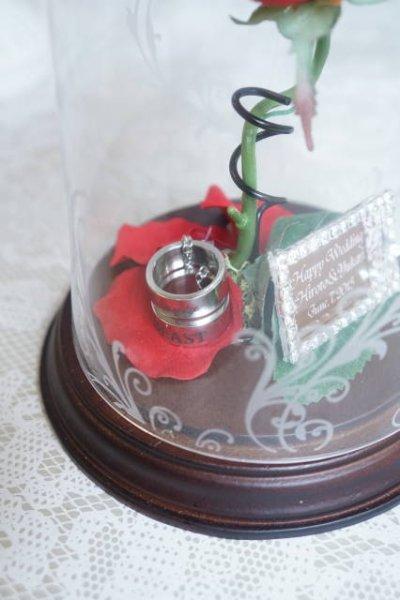 画像2: ガラスドーム ベル 13×21 メッセージ入り