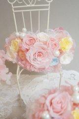 アームレット ミッキー ピンク アジサイとミニ薔薇でぐるっと  色違い可