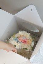他の写真1: ミッキーブーケ ラウンド スワロ&ブルースター  花のみ22cm