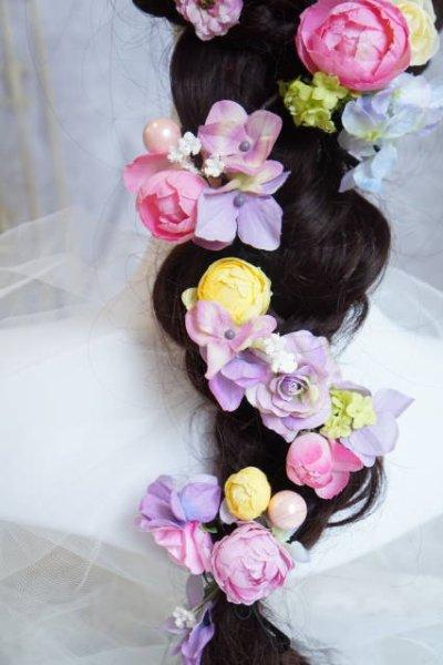 画像2: ヘッドドレス  ミッキーシェイプ 小花セット キャンペーン価格 アーティフィシャルフラワー