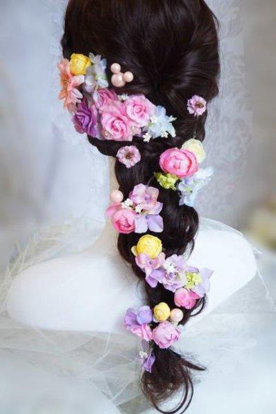 画像1: ヘッドドレス  ミッキーシェイプ 小花セット キャンペーン価格 アーティフィシャルフラワー