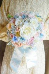 newミッキーブーケ ラウンド アーティフィシャルフラワー リストレットプレゼント スワロ 花のみ22-23cm キャンペーン