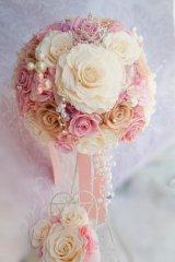 ミッキーブーケ ラウンド スワロIVカラー 花のみ22cm