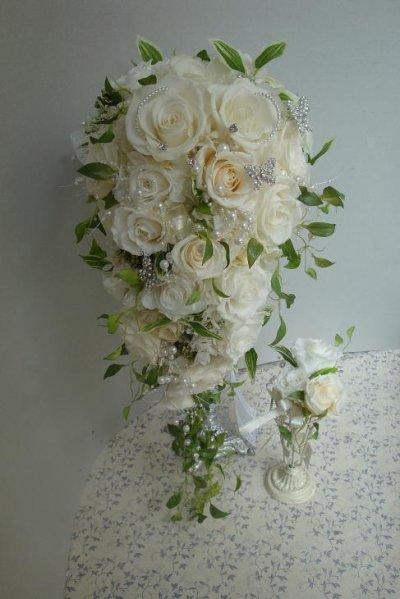 画像2: ロングキャスケードリュクス &スワロ横幅(花のみ)22cm長さ約60